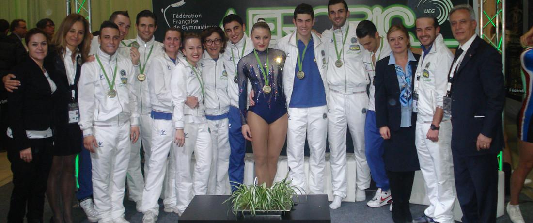 La GYMNOVA ai Campionati Europei di Ginnastica Aerobica di Arques (F)